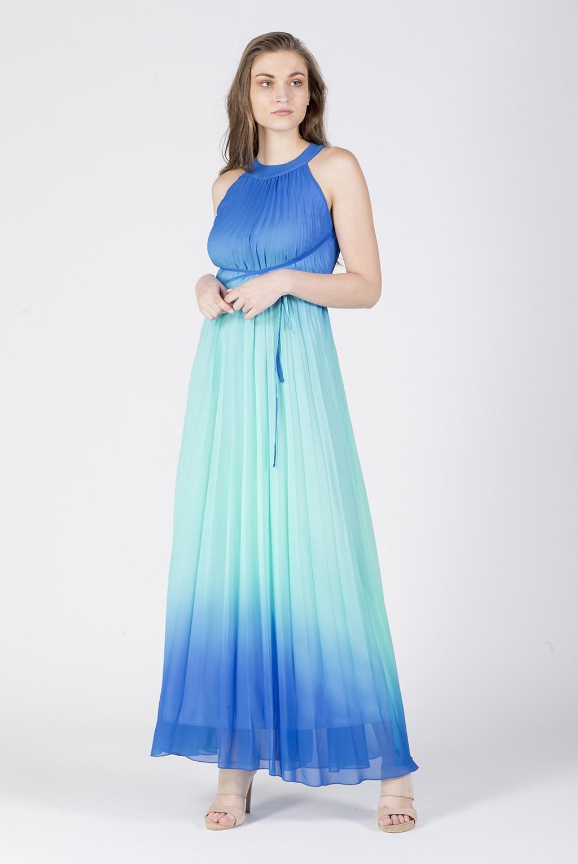 Φόρεμα Α μάξι σολέιγ ντεγκραντέ