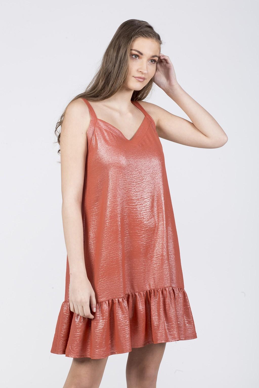 Φόρεμα V  ραντάκι   με βολάν τελειώματα