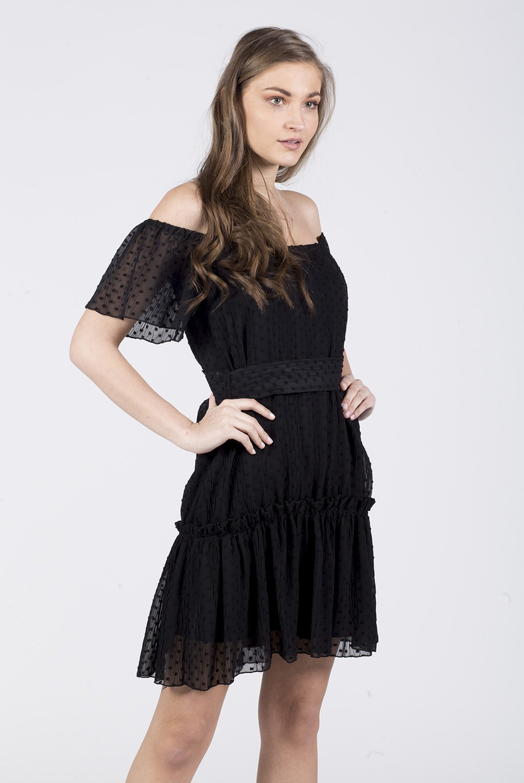 Φόρεμα έξωμο μουσελίνα