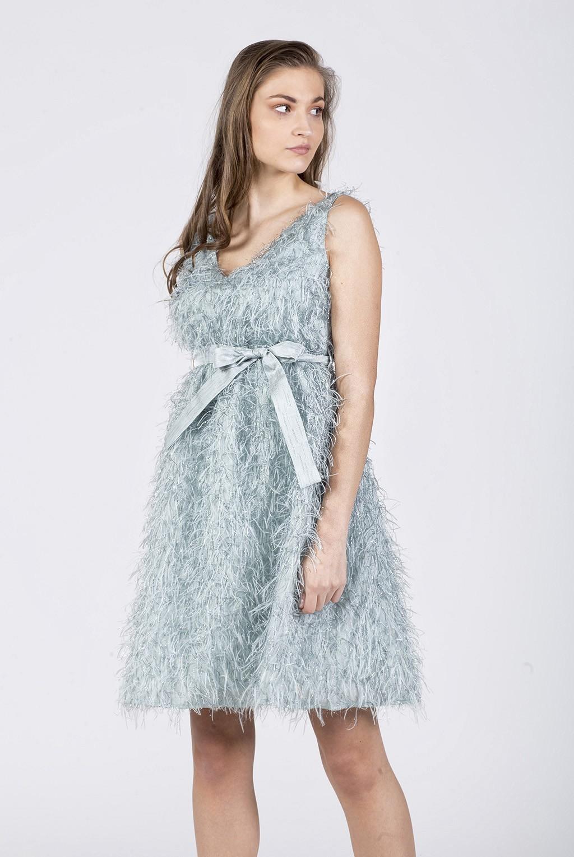 Φόρεμα βε εμπρός-πίσω lurex με φτερά