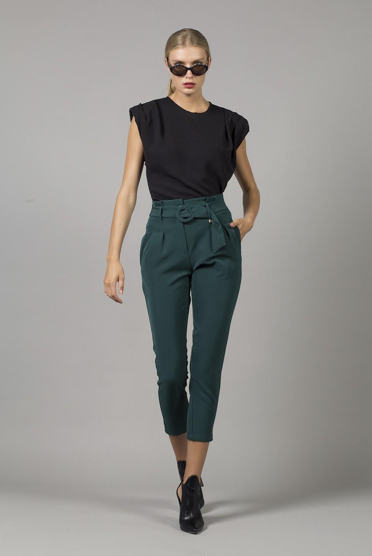 Παντελόνι με πιέτες κ ζώνη ίσιο