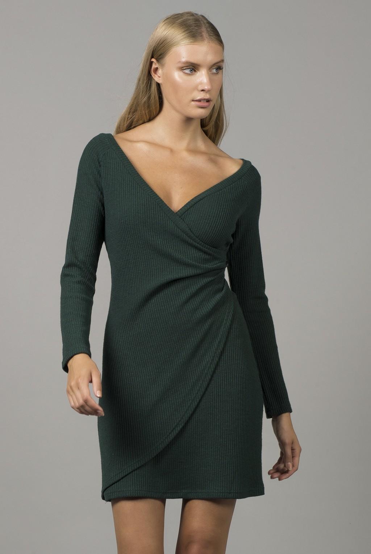 Φόρεμα κρουαζέ πλεκτό