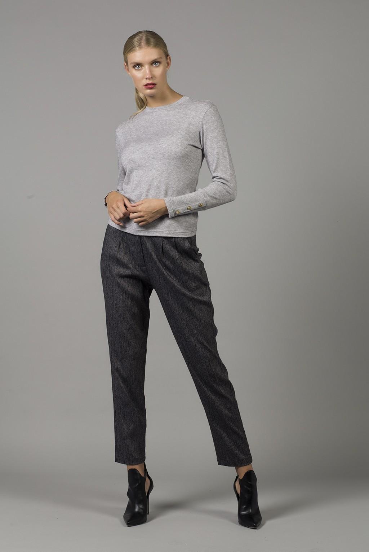 Παντελόνι με τσέπες και πιέτες