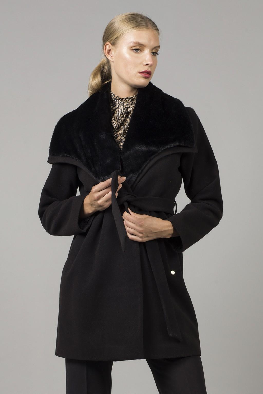 Ημίπαλτο γούνινος γιακάς