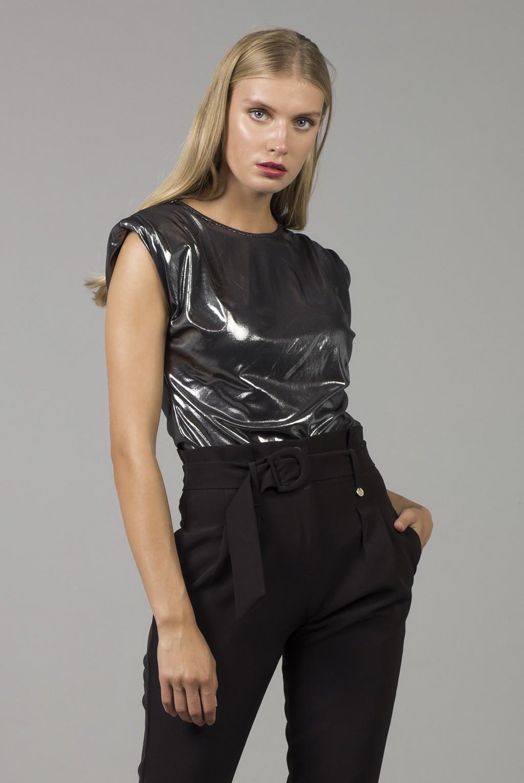 Μπλούζα foil με βάτες